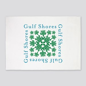 Gulf Shores turtle kaleidoscope- 5'x7'Area Rug