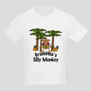 Grandma's Silly Monkey Boy Kids Light T-Shirt