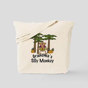 Grandma's Silly Monkey Boy Tote Bag