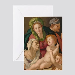 The Holy Family, Bronzino Greeting Card