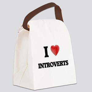 I Love Introverts Canvas Lunch Bag