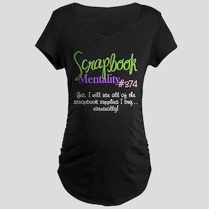 Scrapbook Mentality #374 Maternity Dark T-Shirt