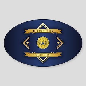 Atlanta Flag Sticker (Oval)