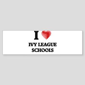 I Love Ivy League Schools Bumper Sticker