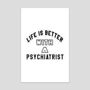 Psychiatrist Designs Mini Poster Print