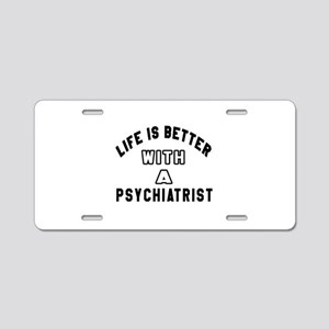 Psychiatrist Designs Aluminum License Plate