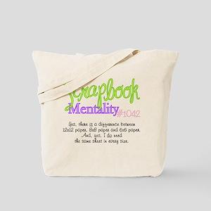 Scrapbook Mentality #1042 Tote Bag