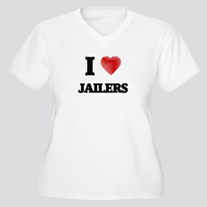 I Love Jailers Plus Size T-Shirt