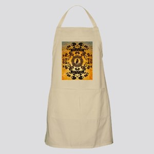 Wonderful floral design in rusty metal Apron