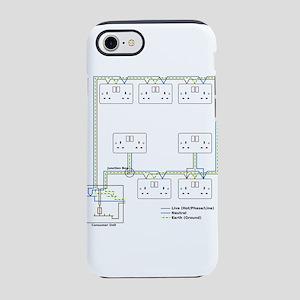 Electrical Circuit iPhone 8/7 Tough Case