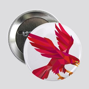 """Peregrine Falcon Swooping Low Polygon 2.25"""" Button"""