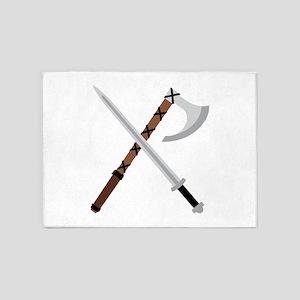 Sword & Axe 5'x7'Area Rug