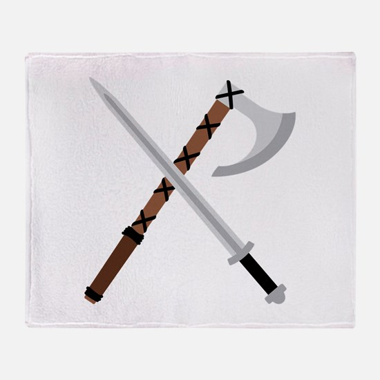 Sword & Axe Throw Blanket