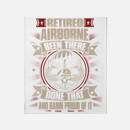 Cute Airborne Throw Blanket
