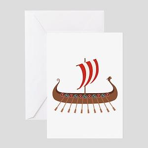 Viking Boat Greeting Cards