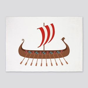 Viking Boat 5'x7'Area Rug