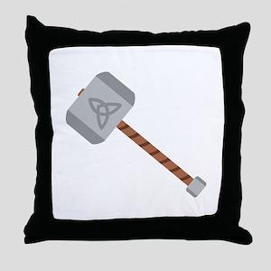 Thors Hammer Throw Pillow
