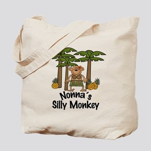 Nonna's Silly Monkey Girl Tote Bag