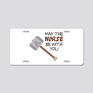 Norse Be With You Aluminum License Plate