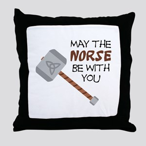 Norse Be With You Throw Pillow