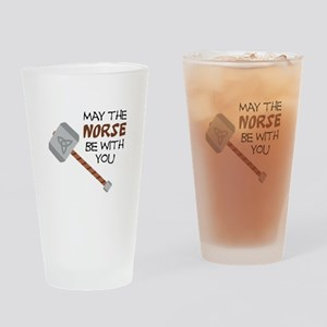 Norse Be With You Drinking Glass