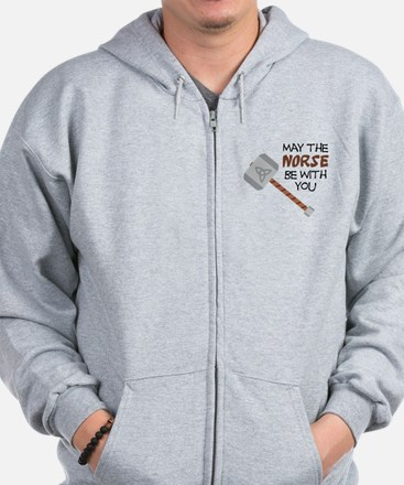 Norse Be With You Zip Hoodie
