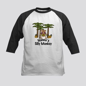 Nonna's Silly Monkey Boy Kids Baseball Jersey