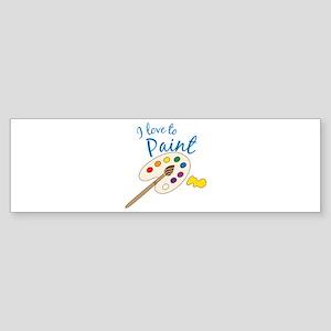 Love To Paint Bumper Sticker