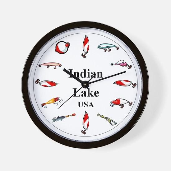 Indian Lake Clocks Wall Clock