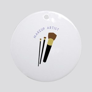 Makeup Artist Round Ornament