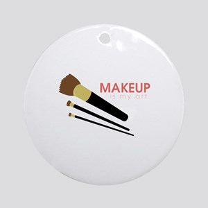 Makeup Art Round Ornament