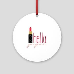 Gorgeous Lipstick Round Ornament