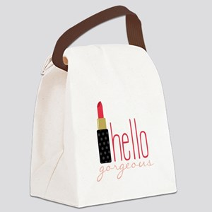 Gorgeous Lipstick Canvas Lunch Bag