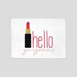 Gorgeous Lipstick 5'x7'Area Rug