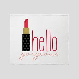 Gorgeous Lipstick Throw Blanket