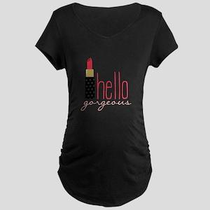 Gorgeous Lipstick Maternity T-Shirt