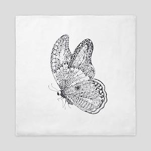 Butterfly Art Queen Duvet