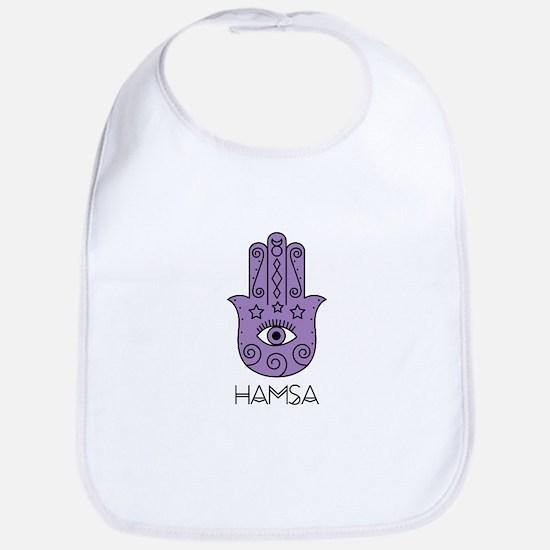 Hamsa Symbol Bib