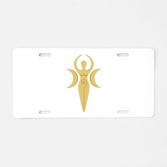 Pagan Goddess Aluminum License Plate