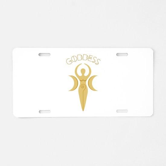 Goddess Symbol Aluminum License Plate