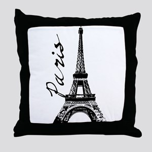 Paris Eifel Throw Pillow