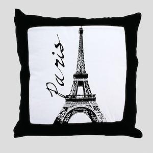 Paris Eifel Throw Pillow