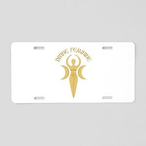 Divine Feminine Aluminum License Plate