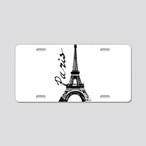 Paris Eifel Aluminum License Plate