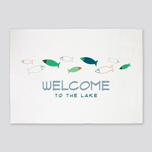 Welcome To Lake 5'x7'Area Rug