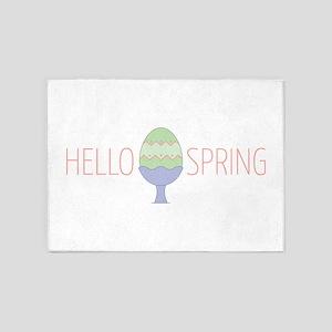 Hello Spring Egg 5'x7'Area Rug