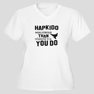Hapkido More Awes Women's Plus Size V-Neck T-Shirt