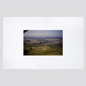 a view from a plane in a landscape 4' x 6' Rug