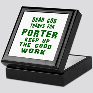 Dear God Thanks For Porter Keepsake Box