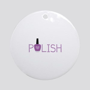 Nail Polish Round Ornament